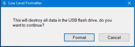 Низкоуровневое форматирование USB-флеш-накопителей